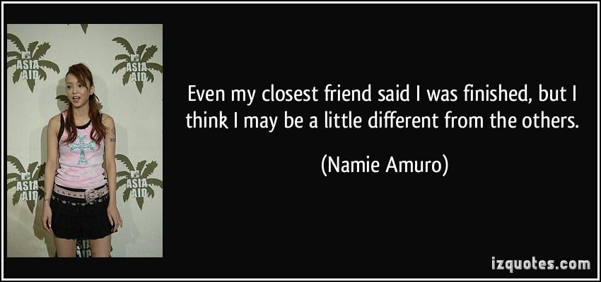 Namie Amuro's quote #5