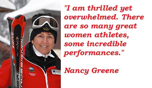 Nancy Greene's quote #2