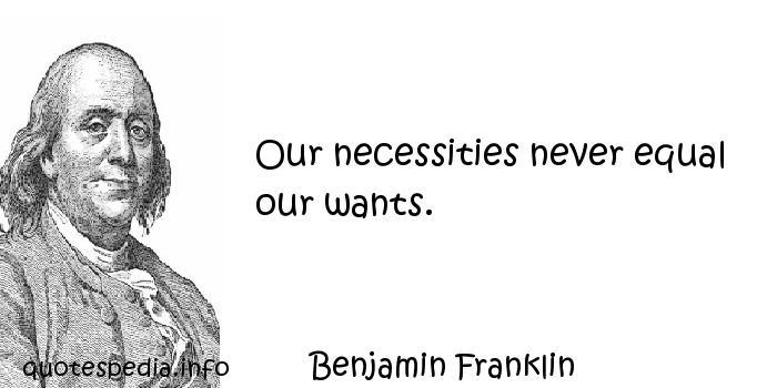Necessities quote #2