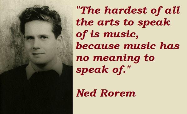 Ned Rorem's quote #1