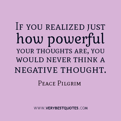 Lovely Negative Thoughts Quote #2 Nice Design
