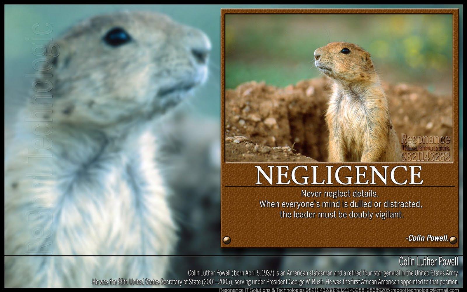 Negligence quote #1
