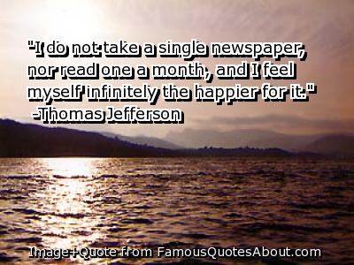 Newspaper quote #1
