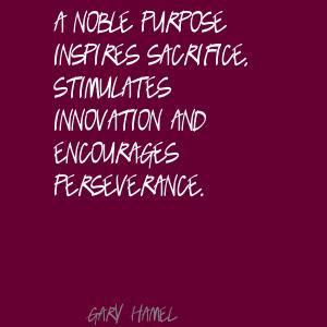 Noble Purpose quote