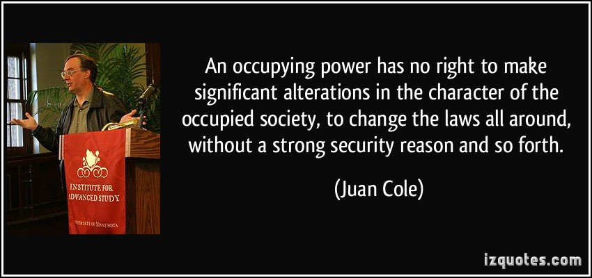 Occupying quote #1