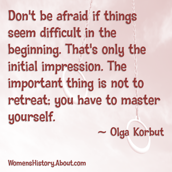 Olga Korbut's quote #4