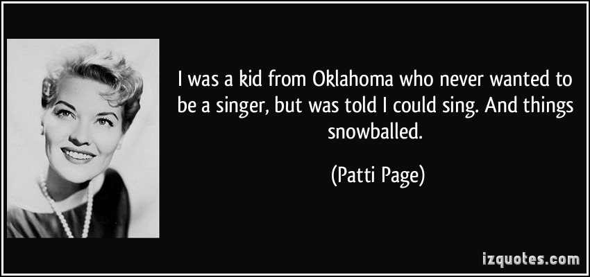 Patti Page's quote #5