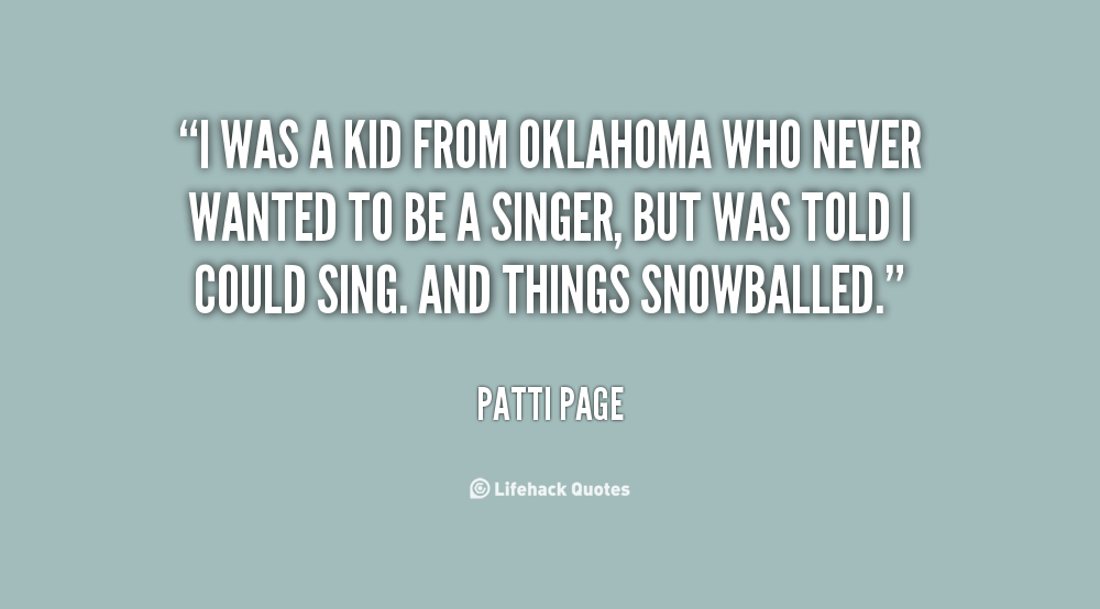 Patti Page's quote #4