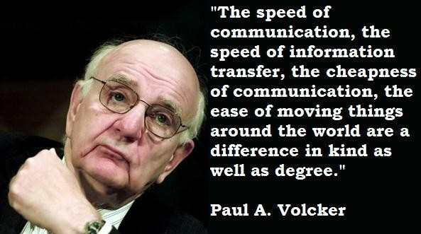 Paul A. Volcker's quote #4