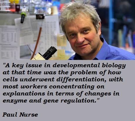 Paul Nurse's quote