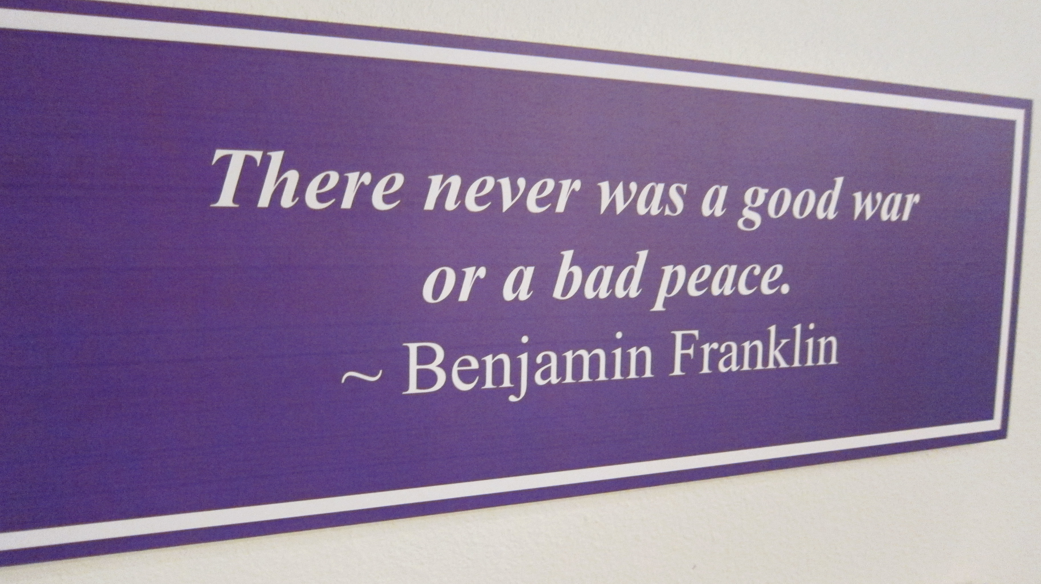 Peacemaker quote #2
