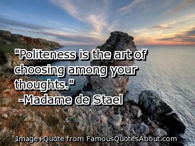 Politeness quote #1