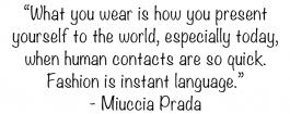 Prada quote