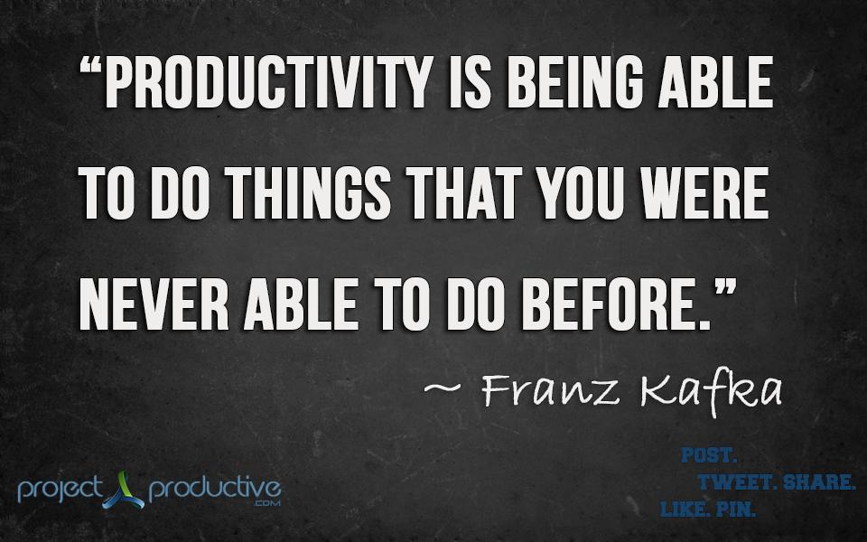Productivity quote #2