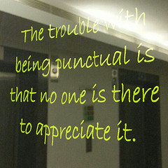 Punctuality quote #2