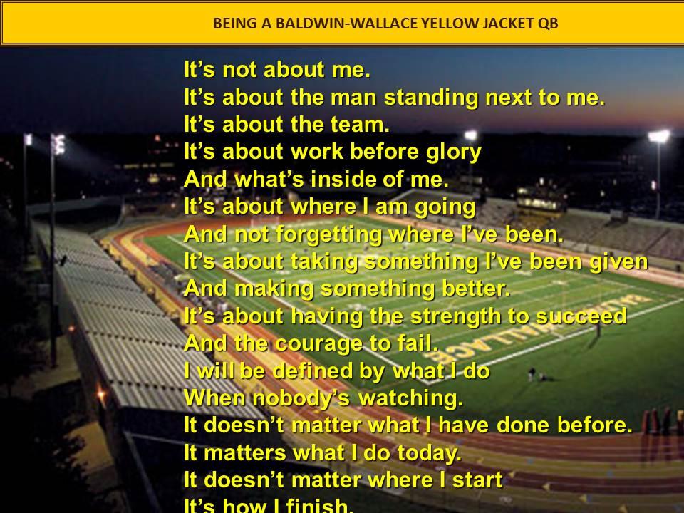 Quarterback quote #1