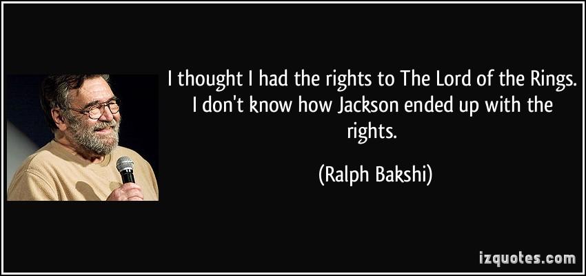 Ralph Bakshi's quote #2