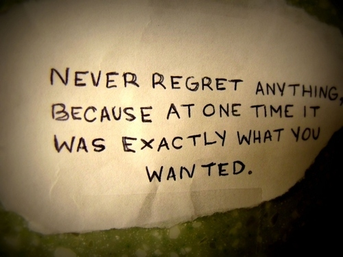 Regret quote #5