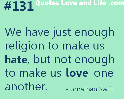 Religious Quotes About Love Cool Famous Quotes About 'religion'  Sualci Quotes
