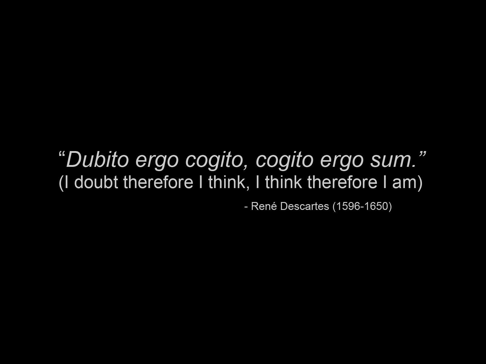 Rene Descartes's quote