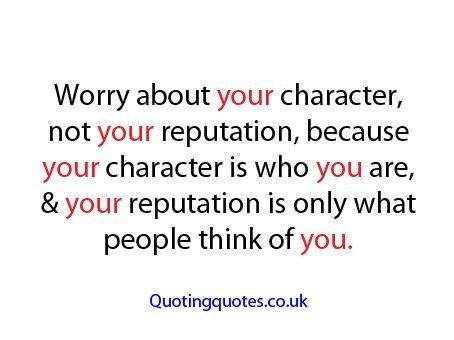 Reputation quote #5