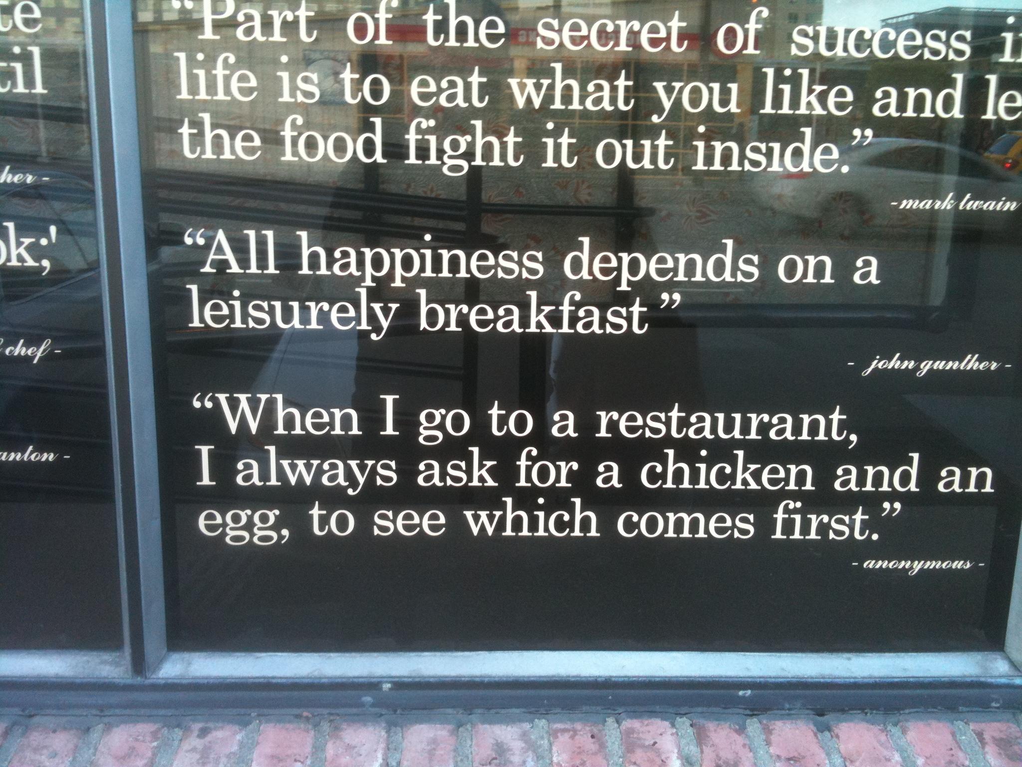 Restaurant quote #7