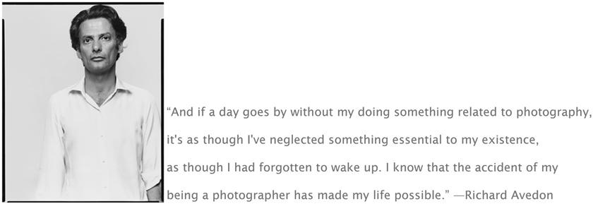 Richard Avedon's quote #1