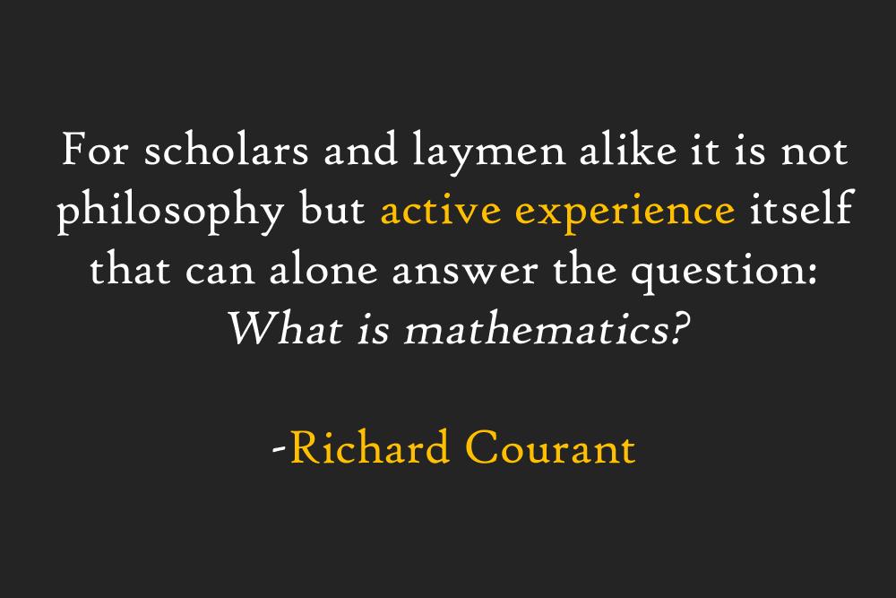 Richard Courant's quote