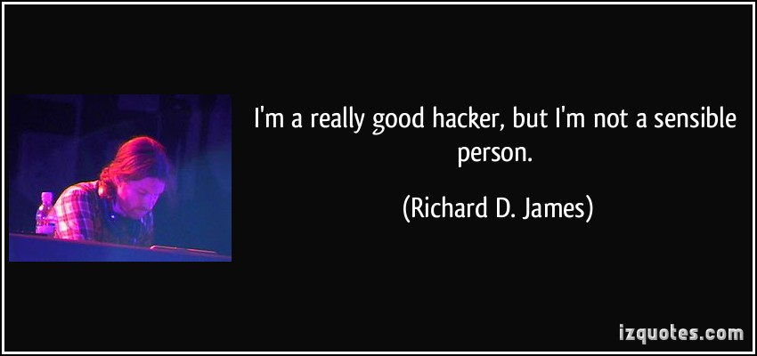 Richard D. James's quote #2