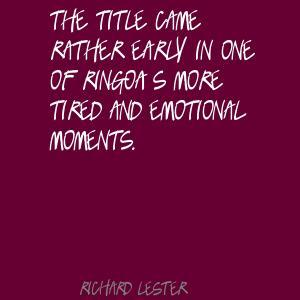 Richard Lester's quote #2