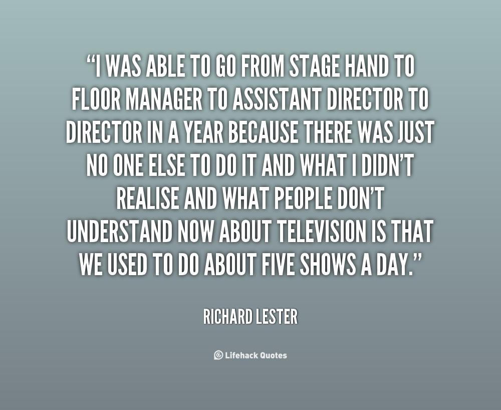 Richard Lester's quote #1