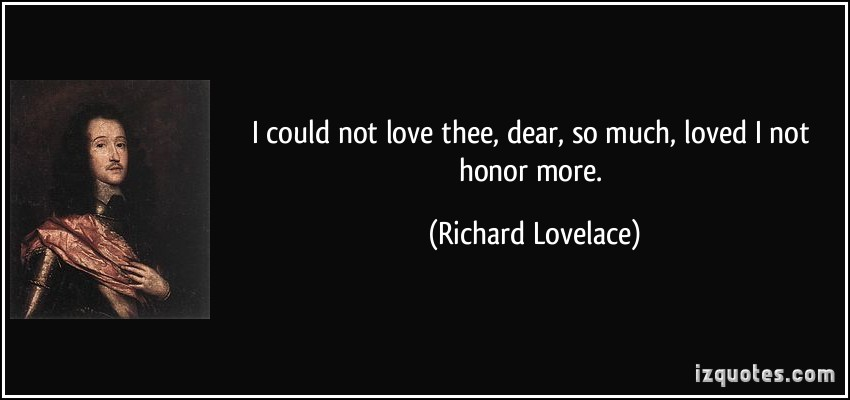 Richard Lovelace's quote