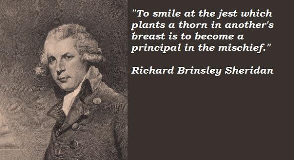 Richard Sheridan's quote