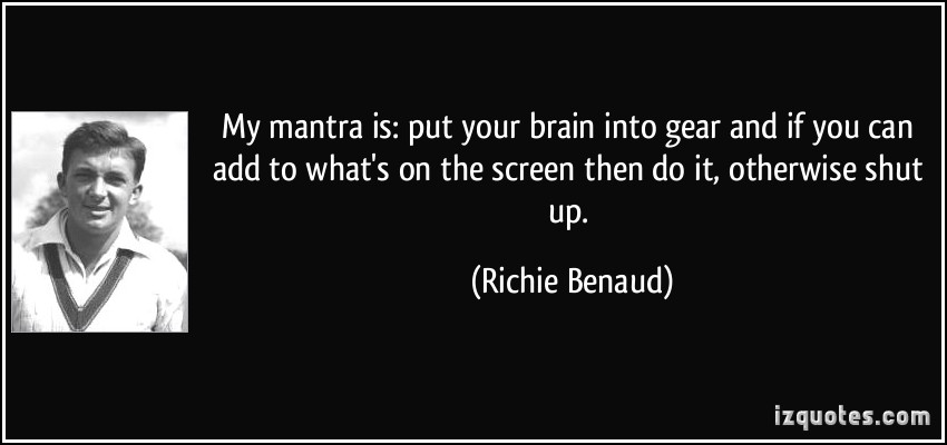 Richie Benaud's quote #8