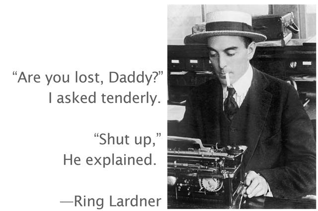 Ring Lardner's quote #1