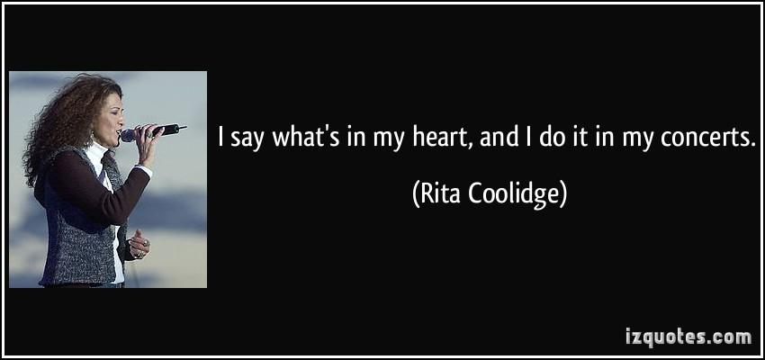 Rita Coolidge's quote #3