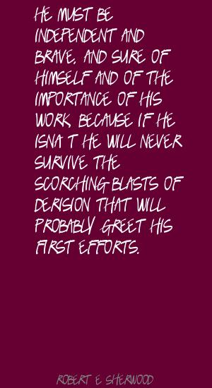 Robert E. Sherwood's quote #6