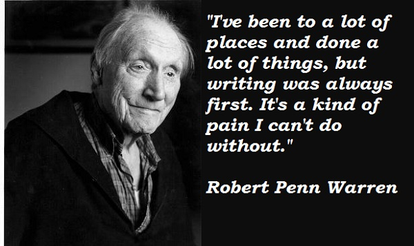 robert penn warren's resolution Robert penn warren used his poetry to fight for civil rights alongside leaders such as malcolm x and martin luther king learn more at biographycom.