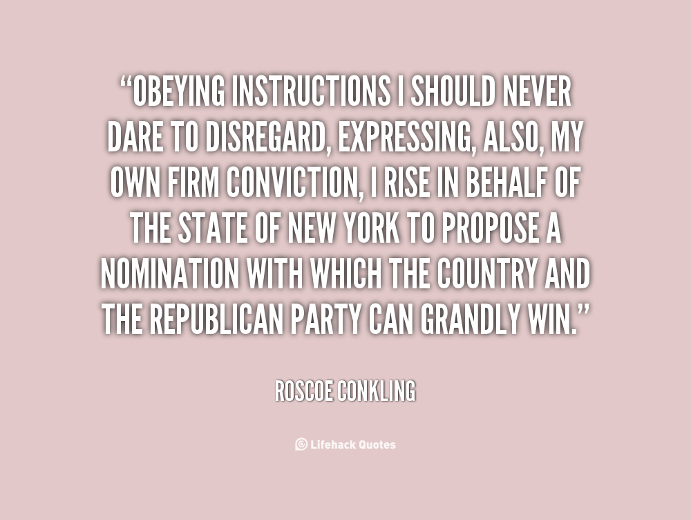 Roscoe Conkling's quote #6
