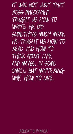 Ross MacDonald's quote #1