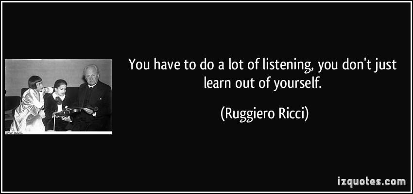 Ruggiero Ricci's quote