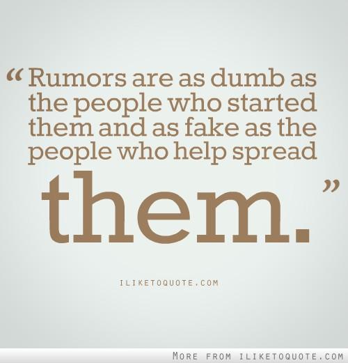 Rumors quote #1