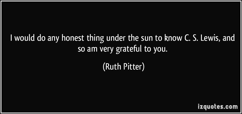 Ruth Pitter's quote
