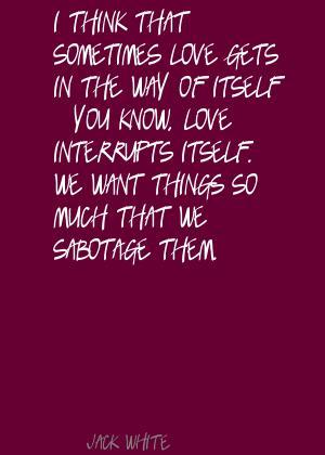 Sabotage quote