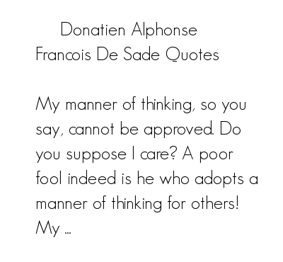Sade quote #1