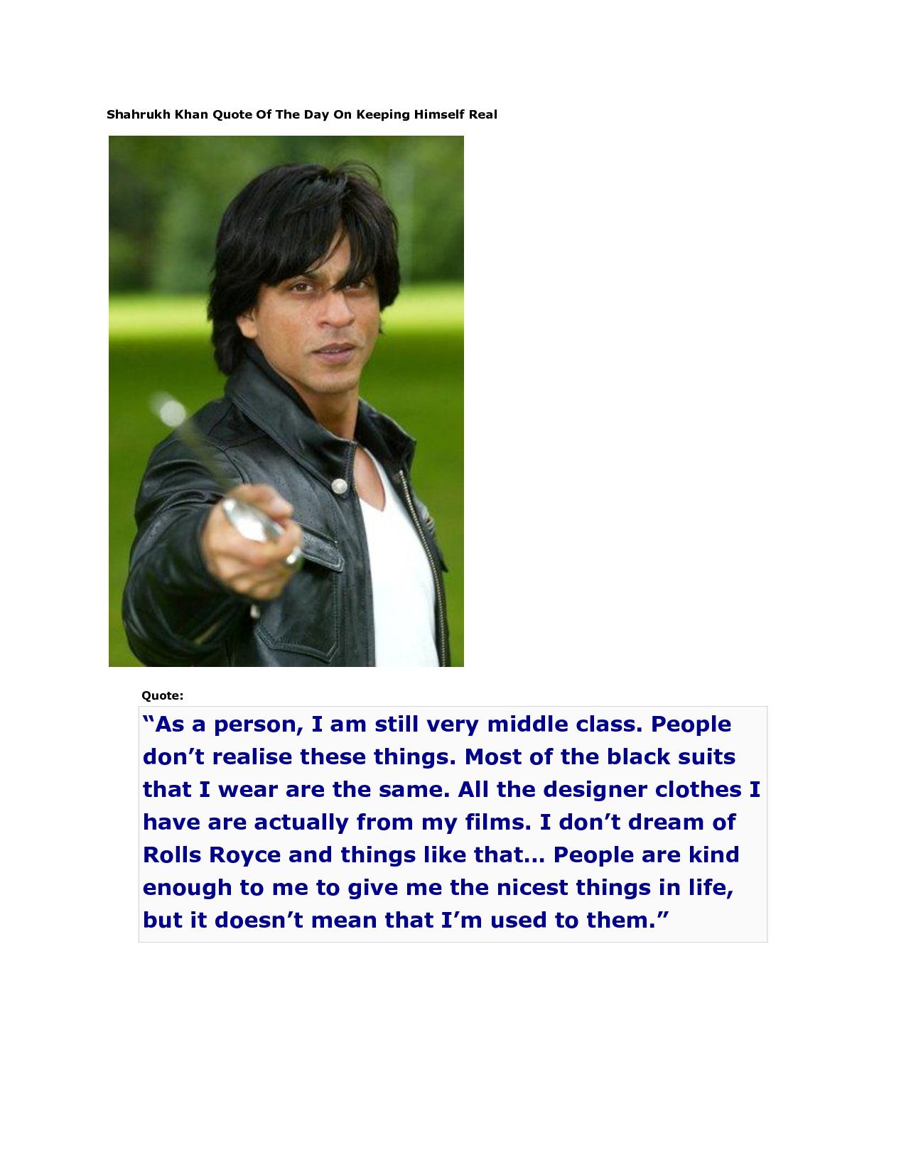 Shahrukh Khan's quote #2