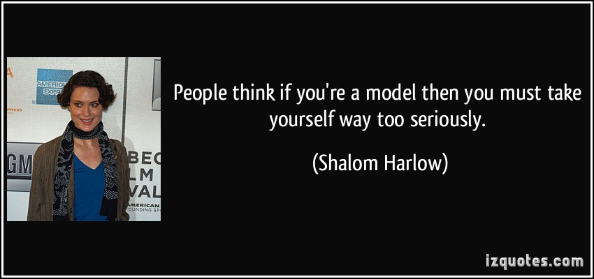 Shalom Harlow's quote #6