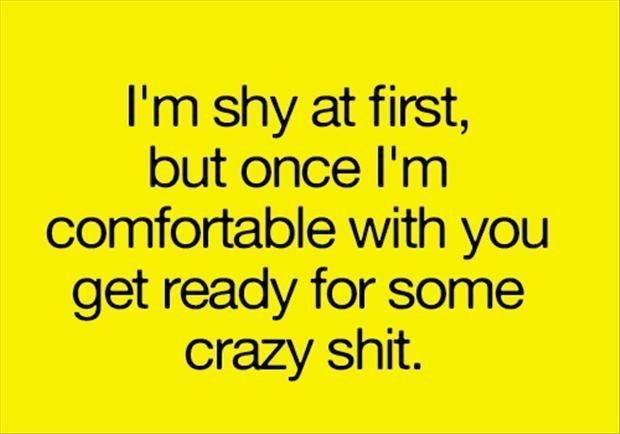 Shy People quote