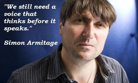 Simon Armitage's quote #7