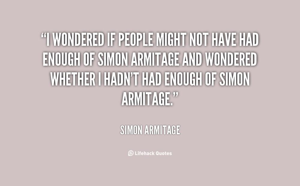 Simon Armitage's quote #2